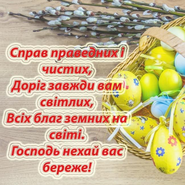Привітання на Великдень