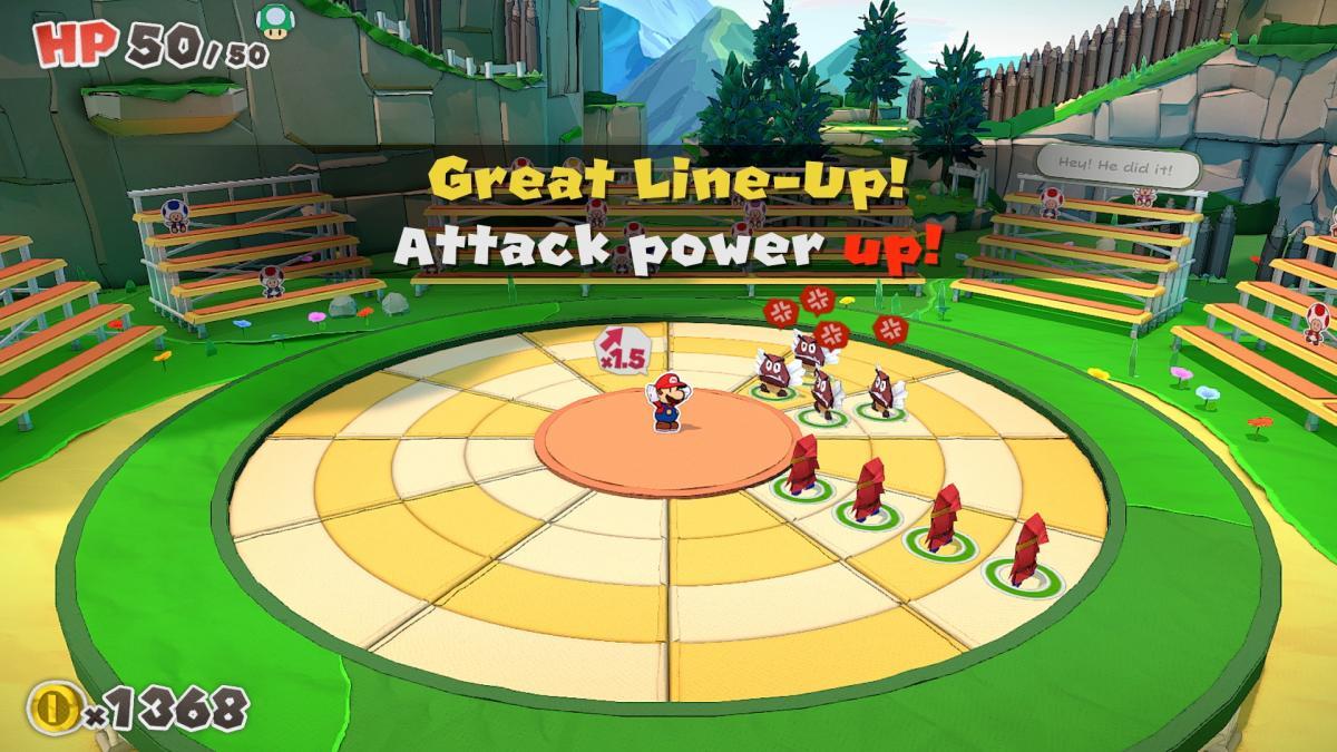 Бойова система вPaper Mario: The Origami King