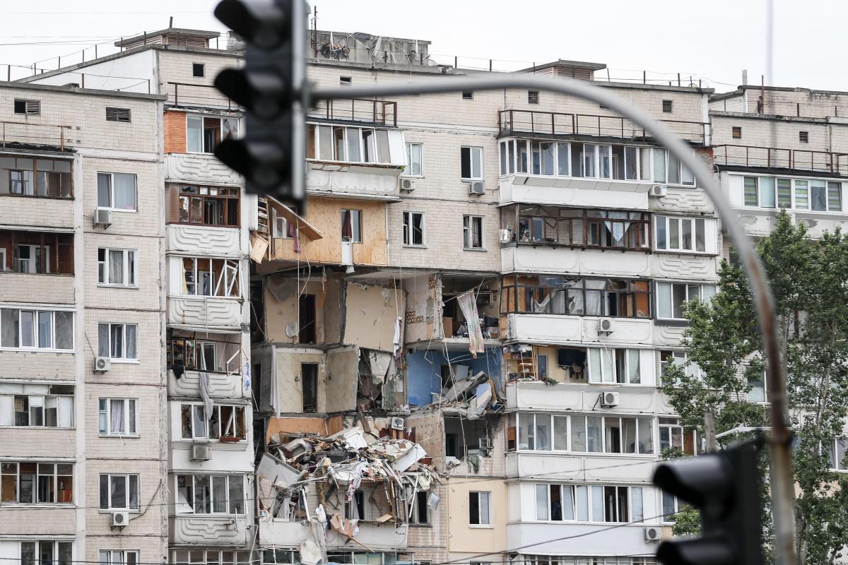 Взрыв на Позняках: фото